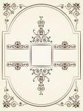 Progettazione barrocco d'annata dell'ornamento di stile illustrazione di stock