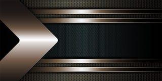 Progettazione beige geometrica con una struttura strutturata e una freccia della tonalità beige metallica Illustrazione di Stock