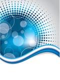 Progettazione blu astratta del fondo con il semitono Immagine Stock Libera da Diritti
