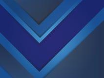 Progettazione blu astratta del modello di copertura di rapporto Fotografia Stock Libera da Diritti