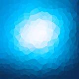 Progettazione blu del modello di cristallizzazione illustrazione di stock