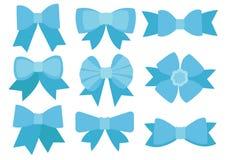 Progettazione blu dell'arco su fondo bianco illustrazione di stock