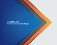 Progettazione blu della copertura dell'opuscolo del modello royalty illustrazione gratis