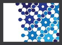 Progettazione blu della copertura dell'opuscolo del modello illustrazione di stock