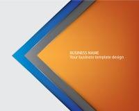 Progettazione blu della copertura dell'opuscolo del modello illustrazione vettoriale