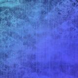 Progettazione blu di struttura di lerciume con le macchie ed il fondo dei graffi Fotografia Stock
