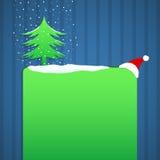 Progettazione blu e verde del fondo di Natale royalty illustrazione gratis