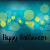 Progettazione blu felice di vettore del fondo di Halloween della sfuocatura astratta royalty illustrazione gratis