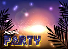 Progettazione blu luminosa per un partito di notte illustrazione vettoriale