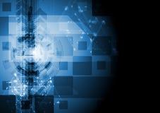 Progettazione blu scuro di ciao-tecnologia di vettore Immagine Stock Libera da Diritti