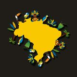 Progettazione brasiliana della cultura Fotografie Stock