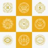 Progettazione calligrafica elegante di logo Fotografia Stock