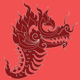 Progettazione capa del tatuaggio del drago Fotografia Stock