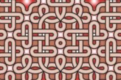 Progettazione celtica decorativa di stile del nodo Immagini Stock