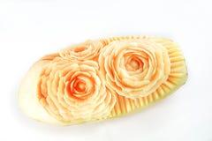 Progettazione che scolpisce Rose Flower Papaya Immagini Stock Libere da Diritti