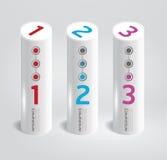 Progettazione cilindrica moderna style.numbered del modello di Infographic. Fotografia Stock