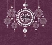 Progettazione cinese felice orientale del modello del nuovo anno Fotografia Stock