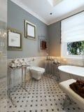 Progettazione classica del bagno luminoso Immagini Stock Libere da Diritti