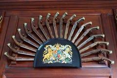 Progettazione coloniale del revolver fotografia stock libera da diritti