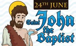Progettazione commemorativa per il ` s EVE di St John nel 24 giugno, illustrazione di vettore illustrazione di stock