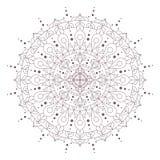 Progettazione complessa circolare della mandala per colorare Fotografie Stock