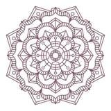 Progettazione complessa circolare della mandala per colorare Fotografia Stock Libera da Diritti