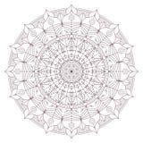 Progettazione complessa circolare della mandala per colorare Fotografia Stock