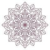 Progettazione complessa circolare della mandala per colorare Immagine Stock