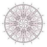 Progettazione complessa circolare della mandala per colorare Fotografie Stock Libere da Diritti