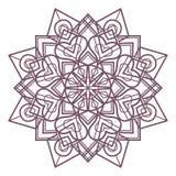 Progettazione complessa circolare della mandala per colorare Immagini Stock