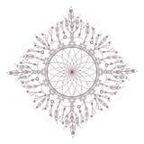 Progettazione complessa circolare della mandala per colorare Immagini Stock Libere da Diritti