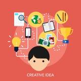 Progettazione concettuale creativa di idea illustrazione di stock