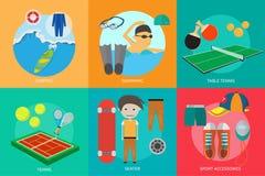 Progettazione concettuale dei premi e di sport illustrazione vettoriale