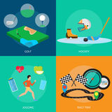 Progettazione concettuale dei premi e di sport Immagine Stock Libera da Diritti
