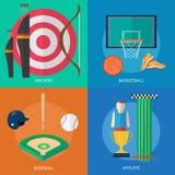 Progettazione concettuale dei premi e di sport illustrazione di stock
