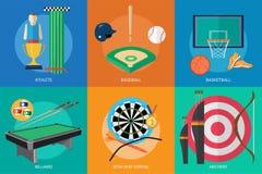 Progettazione concettuale dei premi e di sport Immagini Stock