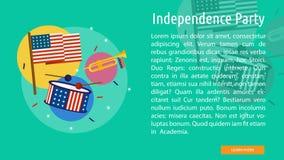 Progettazione concettuale del partito di indipendenza Immagini Stock Libere da Diritti