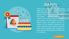 Progettazione concettuale del partito di U.S.A. Fotografie Stock Libere da Diritti