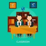 Progettazione concettuale dell'aula illustrazione vettoriale