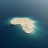Progettazione concettuale dell'isola dell'Africa Fotografia Stock