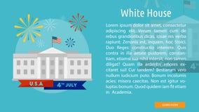 Progettazione concettuale della Casa Bianca Immagini Stock Libere da Diritti