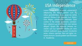 Progettazione concettuale di indipendenza di U.S.A. Fotografia Stock