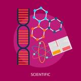 Progettazione concettuale scientifica Immagine Stock