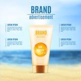 Progettazione cosmetica di protezione di Sun Immagini Stock Libere da Diritti