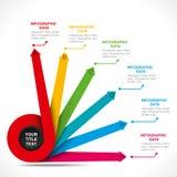Progettazione creativa dei informazione-grafici di affari illustrazione vettoriale