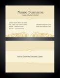 Progettazione creativa del biglietto da visita, annata, stile elegante Immagini Stock Libere da Diritti