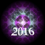 Progettazione creativa del buon anno 2016 Progettazione piana Fotografie Stock Libere da Diritti