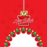 Progettazione creativa del manifesto di Buon Natale illustrazione di stock