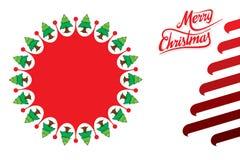 Progettazione creativa del manifesto di Buon Natale illustrazione vettoriale