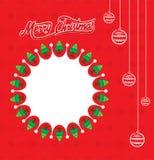 Progettazione creativa del manifesto di Buon Natale royalty illustrazione gratis